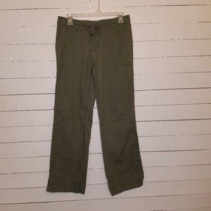 Gap olive green linen pants